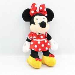 Peluche Minnie robe rouge à pois DISNEY