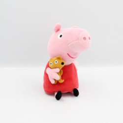 Doudou cochon rose rouge...