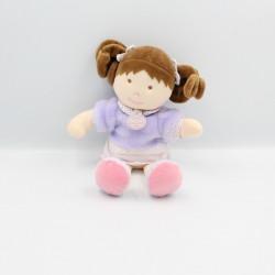 Doudou et compagnie poupée fille mauve pois Le manége des poupées