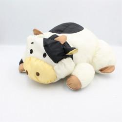 Peluche Puffalump vache blanche noir marron