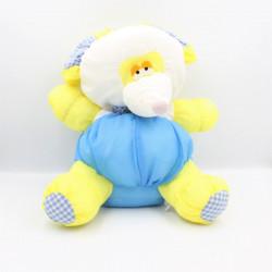 Peluche Puffalump souris bleu jaune blanc