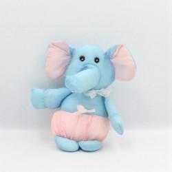 Peluche Puffalump éléphant bleu rose JEMINI