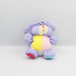 Peluche Puffalump lapin violet mauve jaune rouge