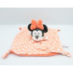 Doudou plat souris Minnie orange pois DISNEY NICOTOY