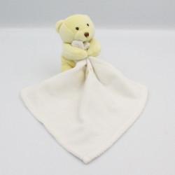 Doudou ours jaune mouchoir Baby nat