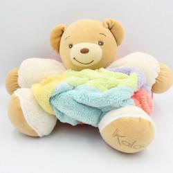 Doudou ours plume beige blanc bleu vert orange jaune KALOO