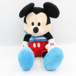 Doudou peluche musical Mickey bleu rouge rayé DISNEY IMC TOYS