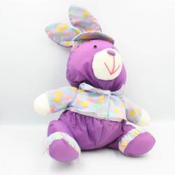 Peluche Puffalump lapin violet mauve rose bonbons EURO PLAY