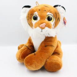 Doudou lion marron blanc yeux brillants TOY'S COMPAGNY