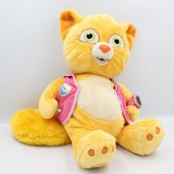 Peluche renard chat orange rose gilet montre Disney Store
