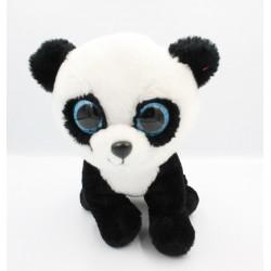 Peluche panda noir blanc yeux bleus brillants TY