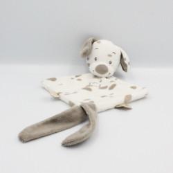 Doudou plat chien blanc beige couronne Max Noa et Tom NATTOU