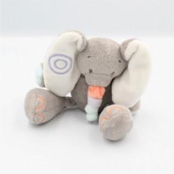 Doudou éléphant gris orange...