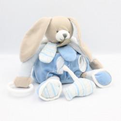 Doudou et compagnie lapin bleu blanc pétale Mon doudou à moi