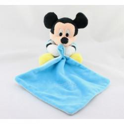 Doudou Mickey bleu avec mouchoir Brille dans la nuit DISNEY