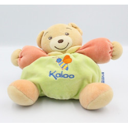Doudou Ours patapouf vert rouge orange abeille KALOO