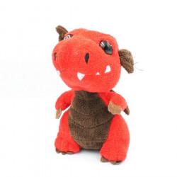 Doudou peluche dragon rouge...