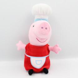 Doudou cochon rose rouge cuisinier PEPPA PIG