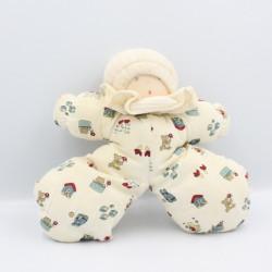 Doudou poupée lutin beige blanc imprimé MOULIN ROTY