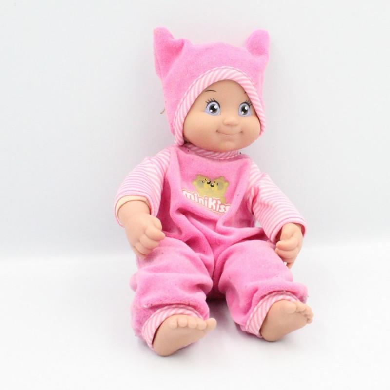 Poupée pyjama rose Mini Kiss Smoby