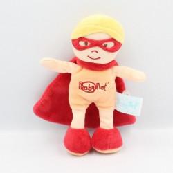 Doudou poupée super héros rouge cape BABY NAT