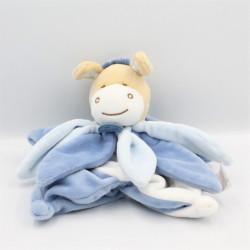 Doudou et compagnie marionnette collector poney ane bleu blanc pétales