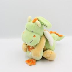 Doudou musical dragon vert jaune château NICOTOY