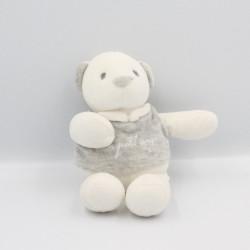 Doudou ours blanc gris Mon petit ange
