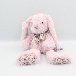 Doudou lapin rose fleurs HISTOIRE D'OURS