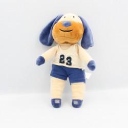 Doudou chien écru bleu maillot 23 BOUT'CHOU BOUTCHOU