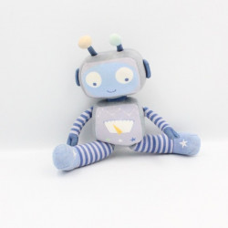Doudou Peluche robot bleu ORCHESTRA PREMAMAN