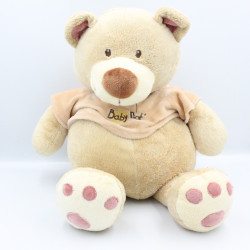 Grand Doudou ours beige pull beige BABY NAT