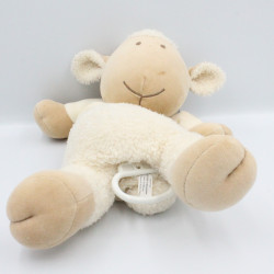 Doudou musical mouton blanc beige NATURE ET DECOUVERTE