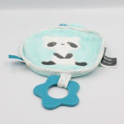 Doudou plat rond panda bleu dentition étoile ORCHESTRA