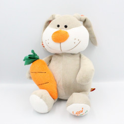 Doudou lapin gris orange...