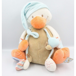 Grand Doudou eveil canard beige bleu orange NATTOU