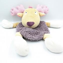 Doudou range pyjama cerf renne elan violet rose ETAM