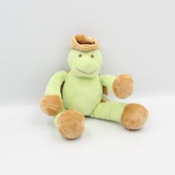 Doudou tortue vert marron chapeau KIMBALOO