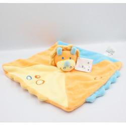 Doudou plat dinosaure orange bleu jaune KIABI KITCHOUN