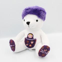 Doudou ours blanc violet poupée russe PASSION BEAUTE 2018