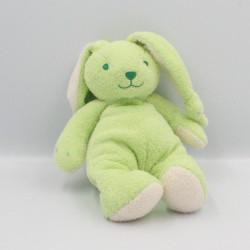 Doudou lapin vert blanc LGRI