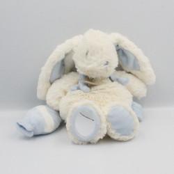 Doudou et compagnie lapin blanc bleu Bonbon miroir