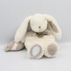 Doudou et compagnie lapin blanc beige Bonbon miroir