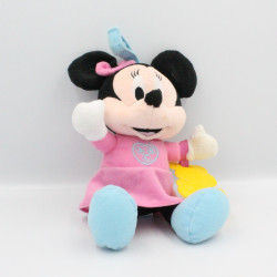 Doudou musical Minnie rose bleu ABC DISNEY CLEMENTONI