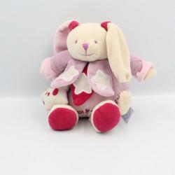 Doudou et compagnie musical photoluminescent lapin rose étoiles