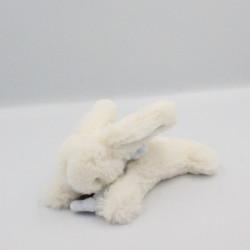 Doudou lapin blanc bleu tout doux Bonbon DOUDOU ET COMPAGNIE