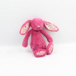 Doudou lapin rose fleurs JELLYCAT