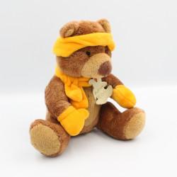 Doudou peluche ours marron orange HISTOIRE D'OURS