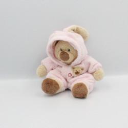 Doudou ours déguisé en lapin rose TY TYLUX