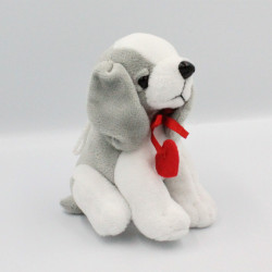 Doudou peluche chien blanc...